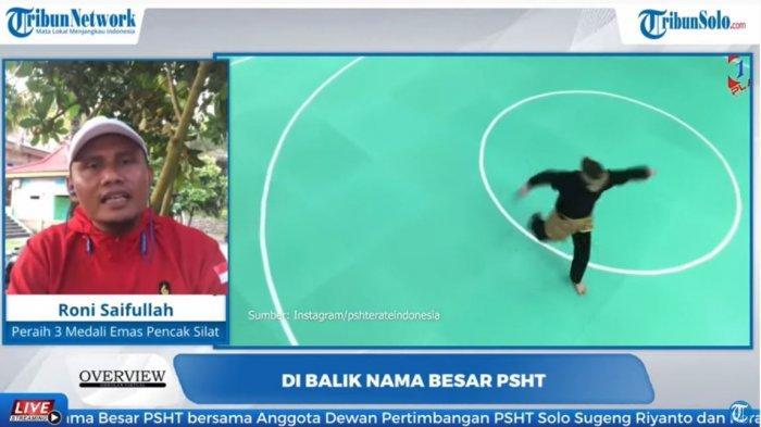 Mantan atlet dan pelatih pencak silat Timnas Indonesia Rony Saifullah dalam program Overview Tribunnews.com, Kamis (29/10/2020) (Overview Tribunnews)