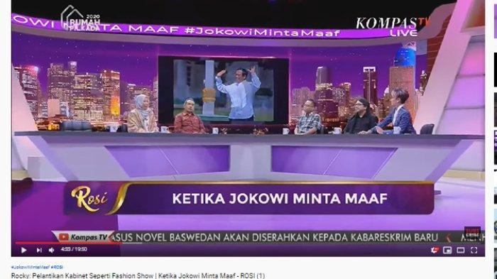 Menteri Diminta Tangkal Radikalisme, Rocky Gerung: Kehidupan Kabinet Ini Dimulai dengan Kecemasan