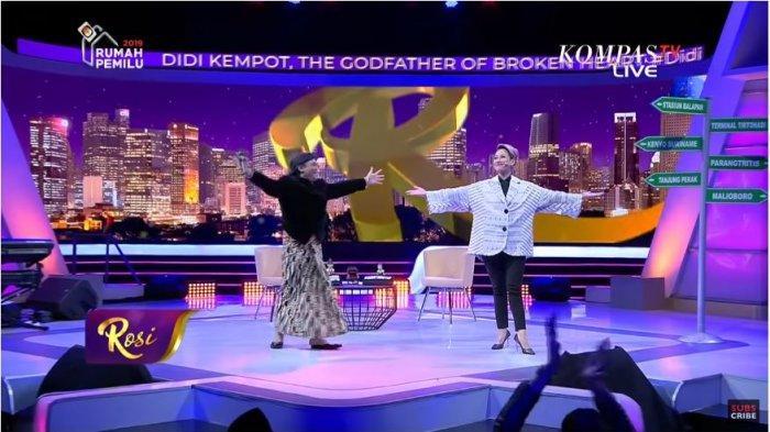 Didi Kempot dalam acara Rosi Kompas TV, Agustus 2019 lalu.