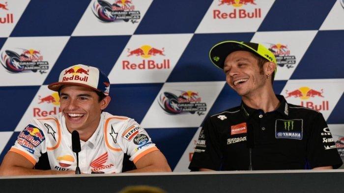 Marc Marquez dan Valentino Rossi.