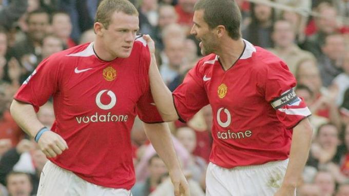 Dua legenda Manchester United Wayne Rooney dan Roy Keane