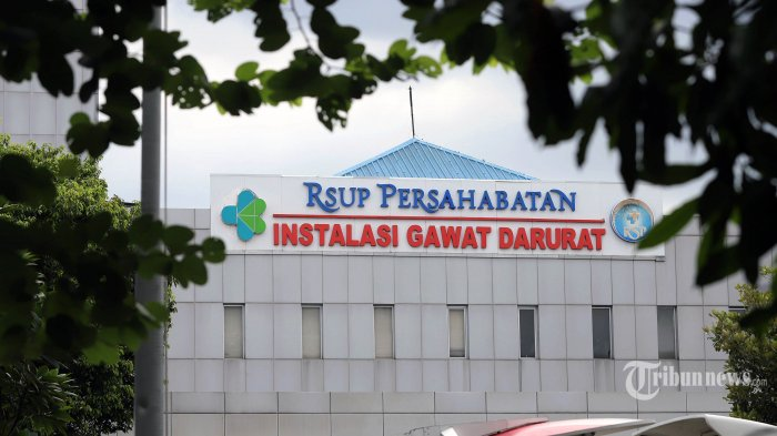 Suasana RSUP Persahabatan sebagai salah satu rumah sakit rujukan penanganan penyakit virus Corona (COVID-19) di kawasan Rawamangun, Jakarta Timur, Sabtu (21/3/2020). Tribunnews/Jeprima