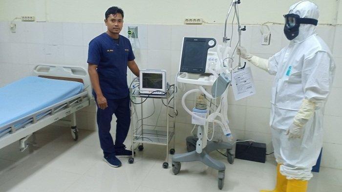 Ruang isolasi RSU Cut Meutia Aceh Utara yang menjadi RS rujukan pasien virus corona.