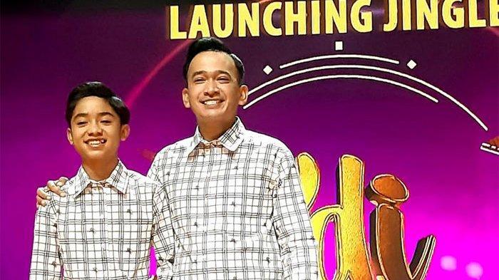 Ruben Onsu (36) dan Bertrand Peto dalam acara Press Brifing Jingle KDI 2020 di Studio RCTI+, di kawasan Kebon Jeruk, Jakarta Barat, Rabu (11/3/2020) malam.