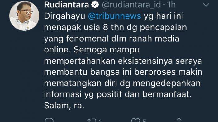 Menkominfo Rudiantara: Pencapaian Tribunnews Fenomenal