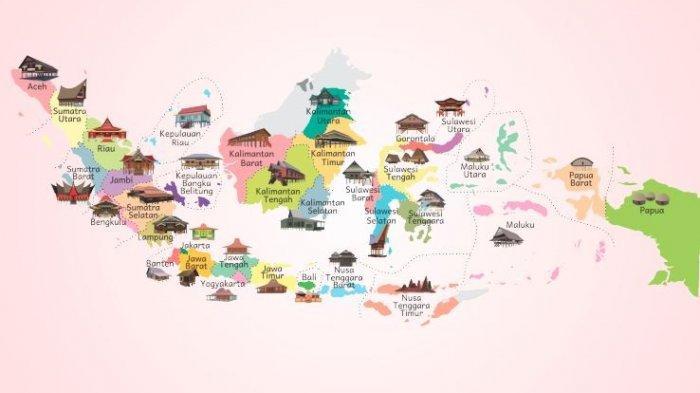 Berbagai Macam Rumah Adat di Indonesia dari Pulau Jawa hingga Papua