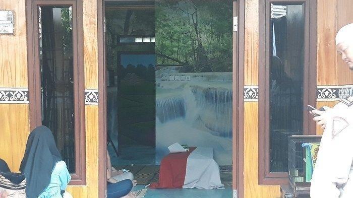 Rumah duka Bripka RE di Tapos, Depok, Jumat (26/7/2019).