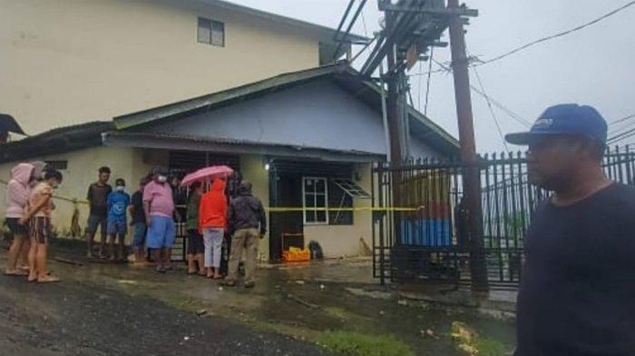 rumah korban rudapaksa yang berada di Jalan Tongkol Keluaragah Argapura