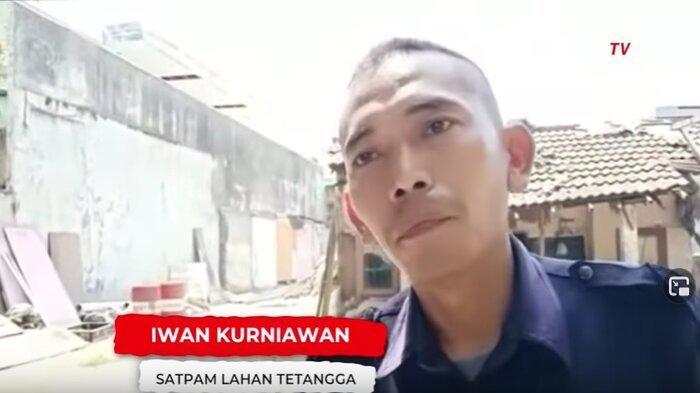Petugas keamanan penjaga lahan kosong samping rumah mewah, Iwan Kurniawan.