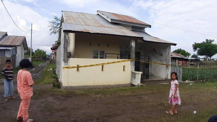 Kediaman Bripka He di Jeneponto, tempat insiden penembakan terjadi.