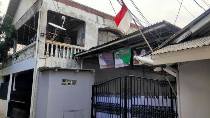 Tampak depan kediaman Habib Rizieq Shihab (HRS), di Jalan Paksi, Petamburan, Jakarta Pusat, Sabtu (7/11/2020).