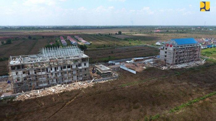 Dua Tower Rusun Universitas Muhammadiyah Banjarmasin Rampung Desember 2018