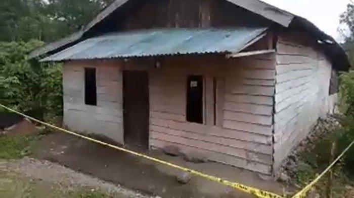 Rumah tempat seorang ibu membunuh bayinya yang berusia 1 tahun di Aceh Tengah.