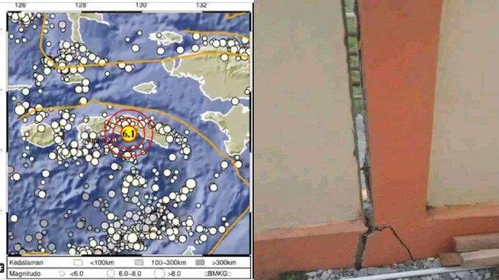 Potensi Tsunami Gempa 6,1 SR Maluku Tengah, Air Laut Sempat Surut di Tehoru, Rumah Warga Rusak