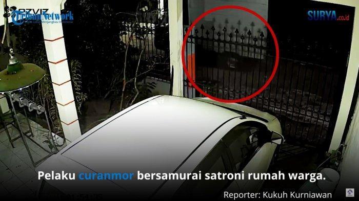 Rumah Warga Kota Malang Disatroni Maling Bersamurai, Mobil Boks Mitsubishi L300 Raib Digondol