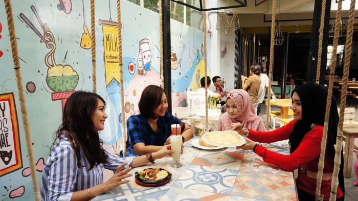 Rumah Warna Kafe di Sleman, Tempat Kuliner Lezat Sekaligus Lokasi untuk Foto-foto Selfie