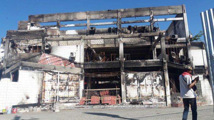 Rumah yang hangus dibakar saat kerusuhan di Wamena Papua. (TribunnewsBogor.com/Naufal Fauzy)