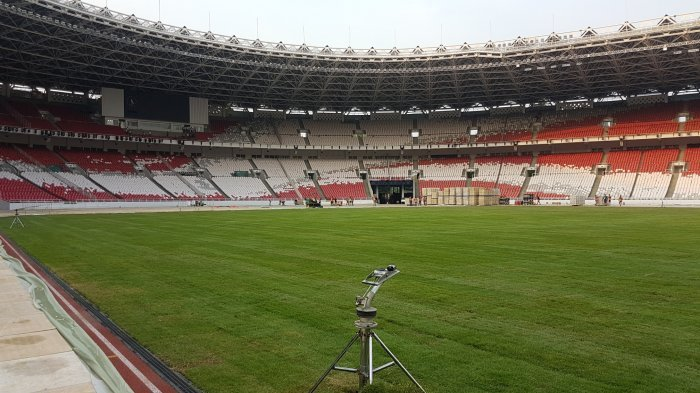 Bagaimana Kondisi Rumput Stadion GBK Setelah Closing Ceremony Asian Games 2018?