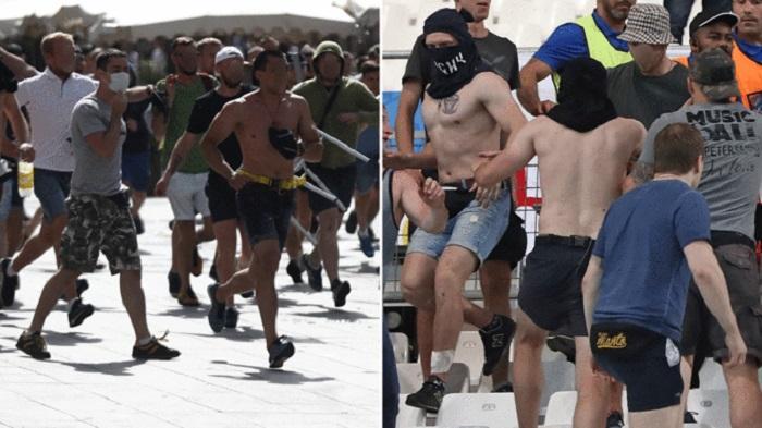 Hooligan Inggris dan Fans Garis Keras Rusia Kembali Bentrok