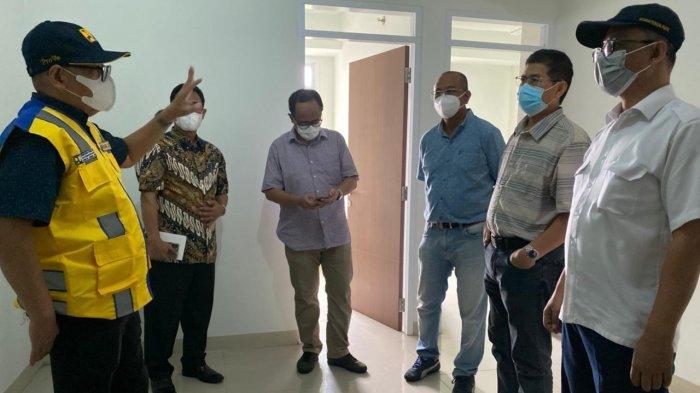 Kementerian PUPR, Ditjen Perumahan, Balai Pelaksanaan Penyediaan Perumahan (BP2P) Jawa 1 melakukan kunjungan ke Rumah Susun Pasar Rumput belum lama ini