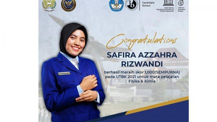 Safira, Alumni SMA Pradita Dirgantara Raih Nilai Sempurna Mapel Fisika dan Kimia pada UTBK 2021