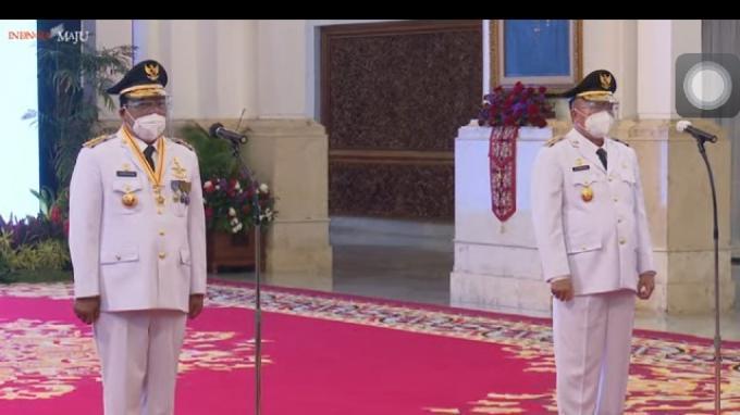 Jokowi Lantik Sahbirin Noor-Muhiddin Sebagai Gubernur-Wagub Kalsel