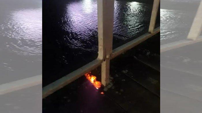 Gara-gara Puntung Rokok, Jembatan Lama Kota Kediri Nyaris Terbakar