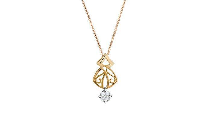 Salah satu koleksi kalung berlian The Palace.