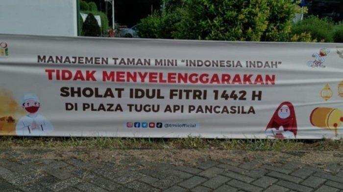 Tahun Ini TMII Tidak Gelar Salat Idul Fitri Berjemaah di Plaza Tugu Api Pancasila