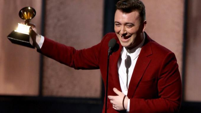 Sam Smith di Grammy Awards.
