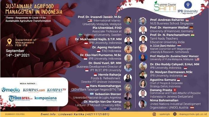 SAMI Summer Course 2021: IPB Sukses Undang Mahasiswa dari Berbagai Negara Dunia