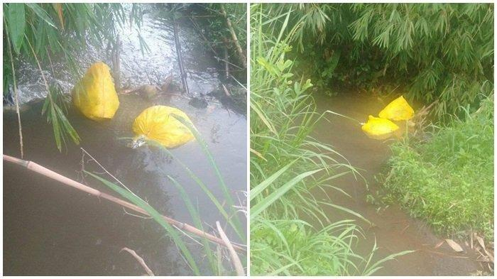 Viral Sampah Medis Dibuang di Aliran Sungai, Isinya Suntikan dan Alat Rapid Test, Pelaku Diselidiki
