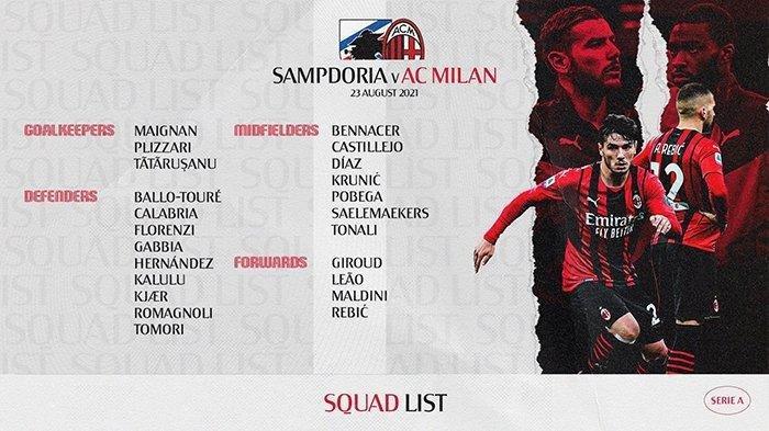 Berita AC Milan, Rossoneri Umumkan Starting XI Musim Ini, Total Ada Delapan Perubahan