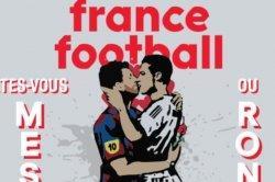 Heboh Gambar Mural Messi dan Ronaldo Berciuman Dipilih jadi Sampul Majalah Prancis