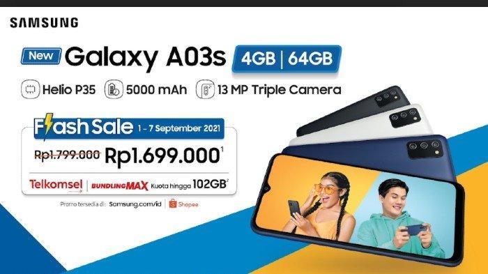 Samsung Galaxy A03S Seharga Rp 1 Jutaan Dibekali RAM 4 GB dan Kamera 13MP, Berikut Spesifikasinya!