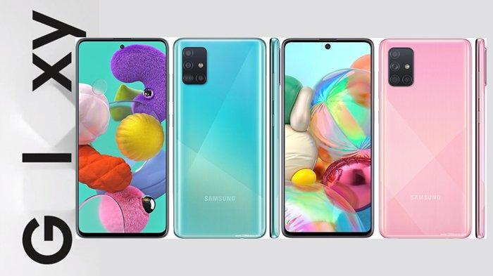 Samsung Galaxy A51 dan Galaxy A71.