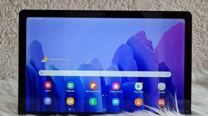 Galaxy Tab A7 dilengkapi <a href='https://kaltim.tribunnews.com/tag/layar' title='layar'>layar</a> dengan bentang 10,4 inci