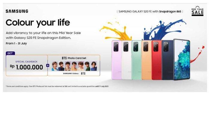Beli Samsung Galaxy S20 FE Gratis Photo Card BTS, Simak Harga dan Spesifikasinya Berikut Ini