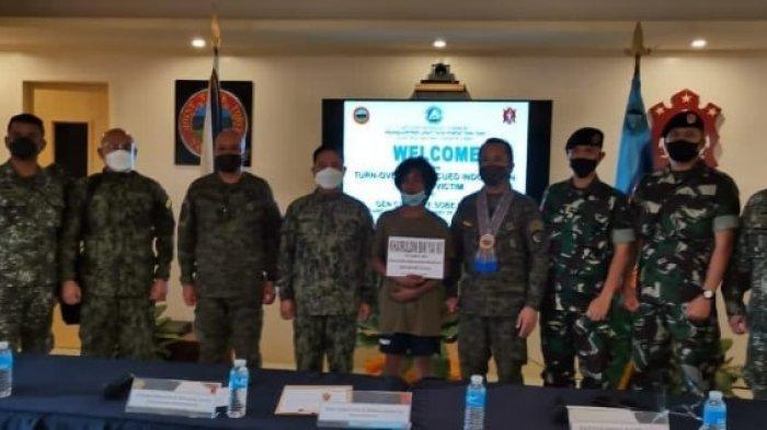 Seorang sandera WNI berinisial MK (laki-laki, 14 th) kembali berhasil diselamatkan di Pulau Kalupag, menyusul diselamatkannya 3 WNI korban sandera Kelompok Abu Sayyaf pada Kamis (18/3) lalu.