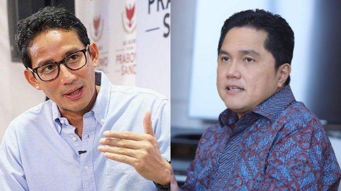 Bicarakan Peluang Sandiaga Uno Jadi Bos BUMN, Erick Thohir Yakin Ditolak meski Menawari Jabatan