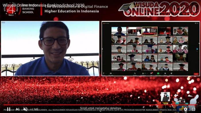 Hadir di Wisuda Virtual, Sandiaga Titipkan Pesan Tantangan Globalisasi Sektor Keuangan