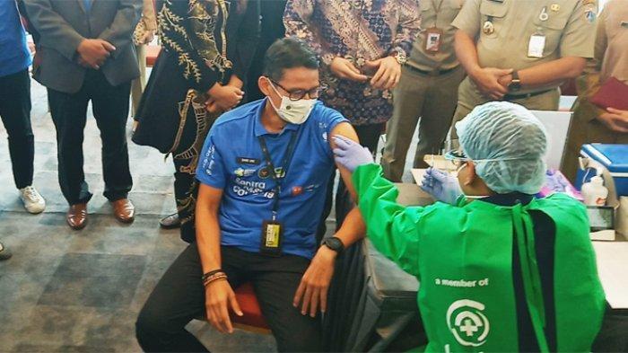 Sandiaga Mengaku Gugup, Jantungnya Berdebar Kencang Saat Disuntik Vaksin Covid-19