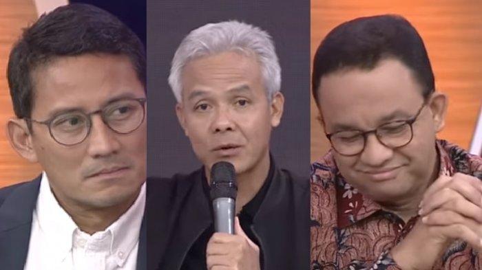Reaksi Anies Baswedan dan Sandiaga Uno Saat Ganjar Pranowo Singgung Politik Identitas di ILC tvOne
