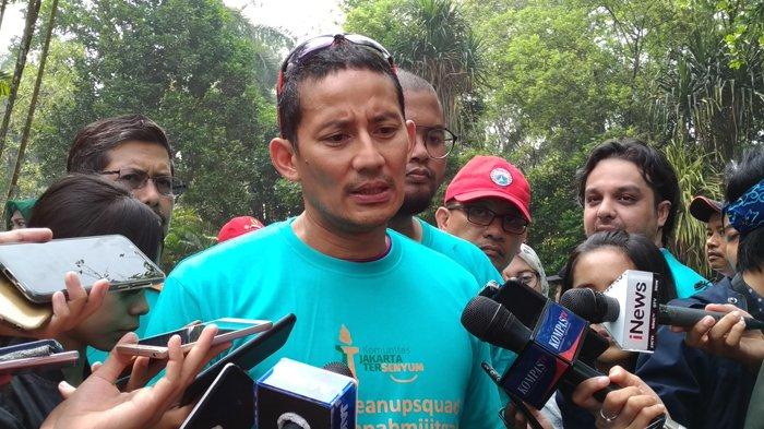 Ucapan Terima Kasih Sandiaga kepada Relawan Ahok yang Ikut Ramaikan Peresmian Lapangan Banteng
