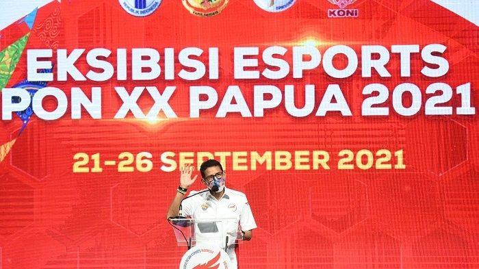 Menparekraf Sandiaga Uno Buka Eksibisi Esports PON XX di Papua