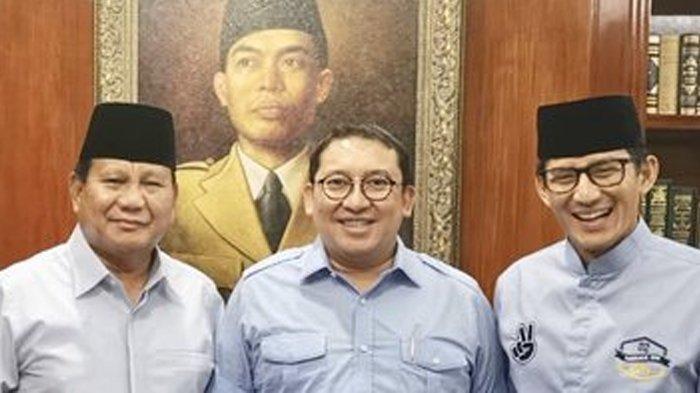 Sandiaga Uno, Prabowo Subianto dan Fadli Zon.