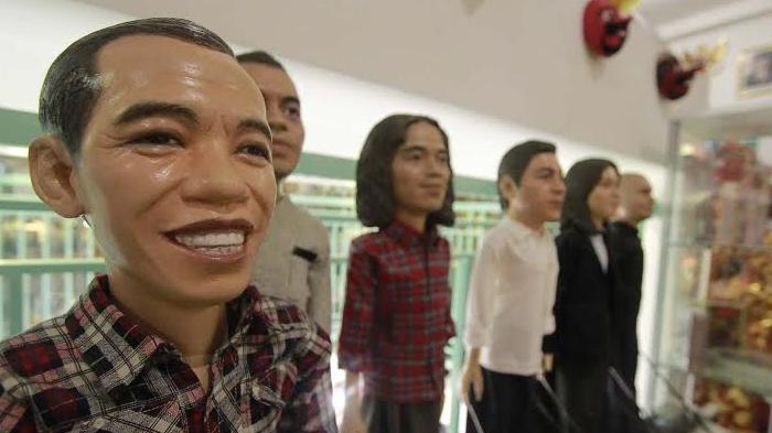 Begini Kalau Jokowi, Gus Dur, Mahatma Gandi, Lady Diana Berbentuk Wayang