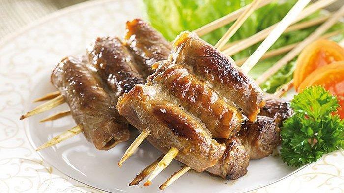 sate kambing gulung sukiyaki