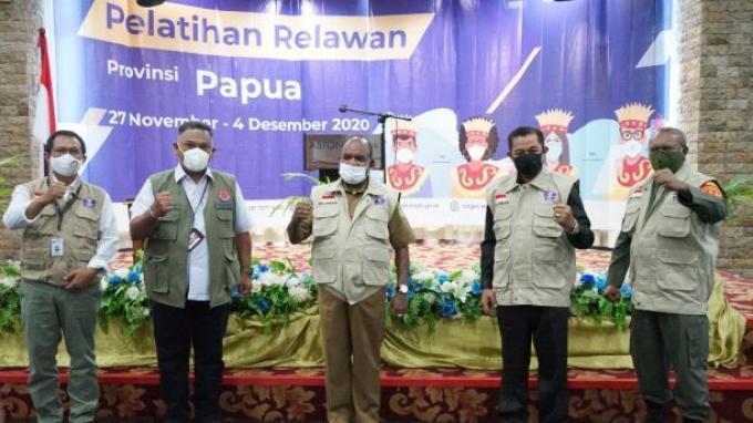 500 Relawan Papua Diharapkan Jadi Agen Perubahan Adaptasi Kebiasaan Baru di Tengah Pandemi