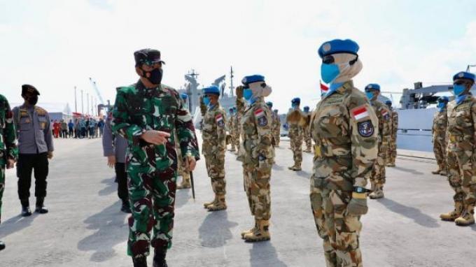 Panglima TNI Melepas Satgas Maritim TNI Konga XXVIII-M ke Lebanon